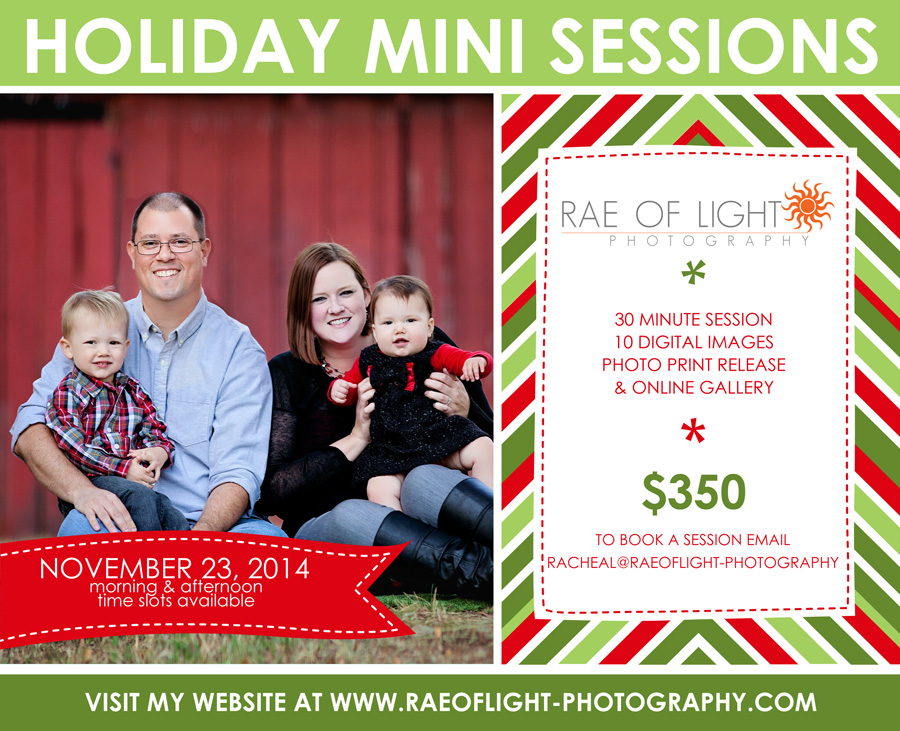 Round Rock holiday mini sessions